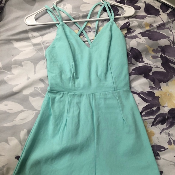 Forever 21 Other - Mini Backless Romper in Mint Green